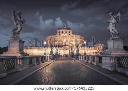 Castel Sant'Angelo in Rome - stock photo