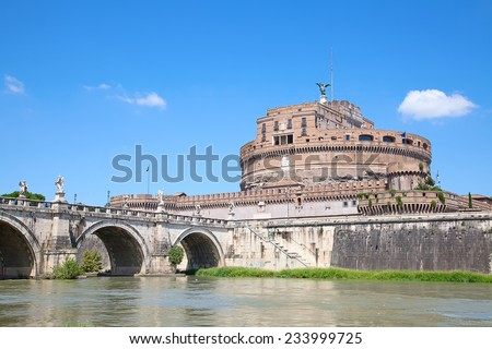 Castel Sant'Angelo. Old fortress in Rome, Italy - stock photo