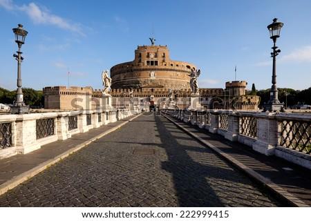Castel Santangelo, Rome. - stock photo