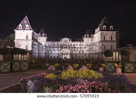 Castello Del Valentino Turin Italy - stock photo