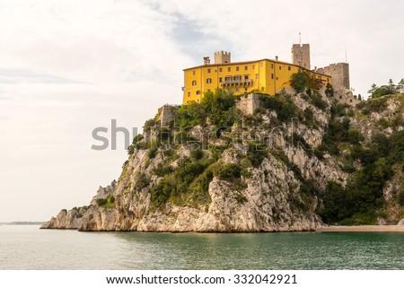 castello di duino near sistiana, italy - stock photo