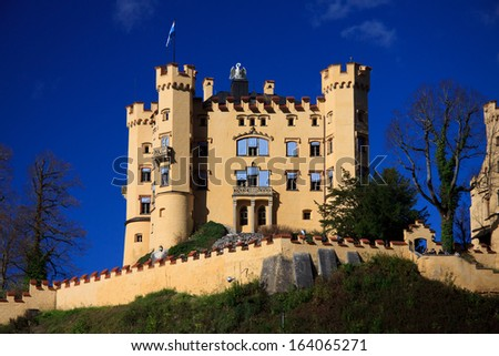 castello di Hohenschwangau, Bavaria - stock photo
