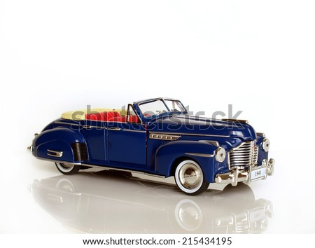 Castellon,Spain.September 5,2014.Close up picture of a classic car (miniature), Buick 1941   - stock photo