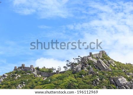 Castelo dos Mouros in Sintra, Portugal - stock photo