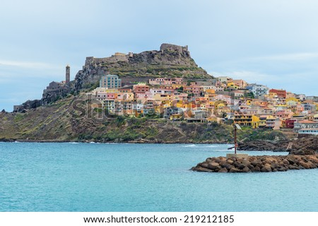 Castelsardo Sardinia - stock photo