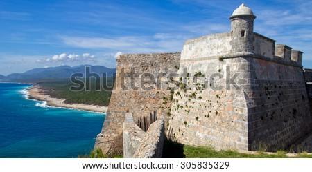 Castille del Morro, Santiago de Cuba - stock photo