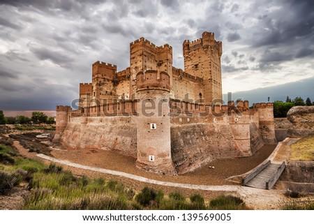 Castillo de la Mota - famous old castle in Medina del Campo, Valladolid (Castilla y Leon), Spain - stock photo