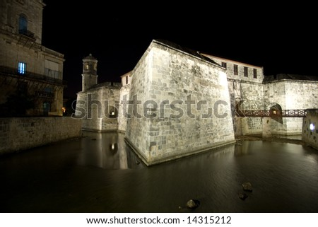 Castillo de la Real Fuerza  (1577), Havana, Cuba night view