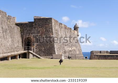 Castillo de San Cristobal, in Old San Juan, Puerto Rico. - stock photo