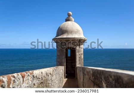 Castillo de San Felipe del Morro, in Old San Juan, Puerto Rico. - stock photo