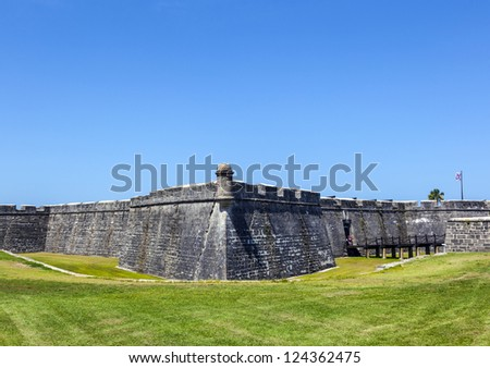Castillo de San Marco - Fort in Sankt Augustine - stock photo
