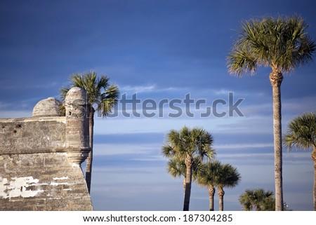 Castillo de San Marcos in St. Augustine - stock photo