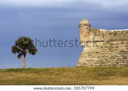 Castillo de San Marcos in St. Augustine, Florida. - stock photo