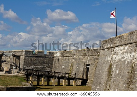 Castillo de San Marcos in St Augustine, Florida - stock photo