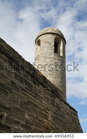 Castillo de San Marcos National Monument in Saint Augustine, Florida, USA. - stock photo