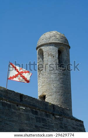 Castillo Outside of Marcos National Monument in St. Augustine, Florida - stock photo