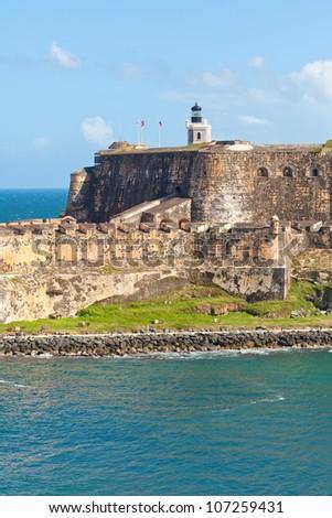 Castillo San Felipe del Morro in San Juan, Puerto Rico - stock photo