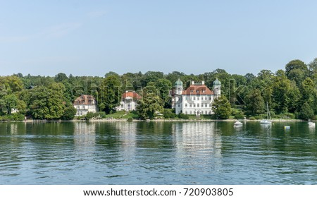 Castle Ammerland at  Lake Starnberg in Bavaria, Germany / Castle Ammerland at  Lake Starnberg / Lake Starnberg