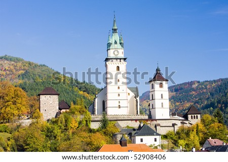 castle and church of St. Catherine, Kremnice, Slovakia