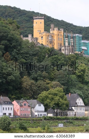 Castle and Village on the Rhine