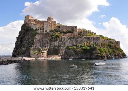 castle Aragonese of Ischia,Italy - stock photo