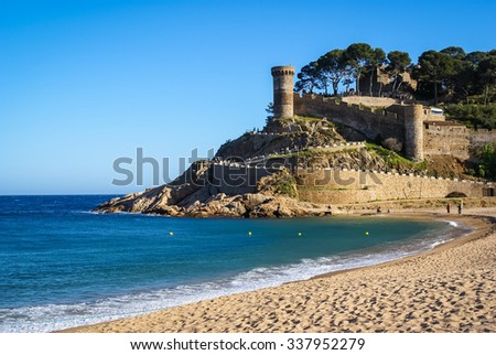 Castle at Tossa de Mar, Catalonia, Spain