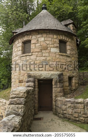 Castle Bathroom - stock photo