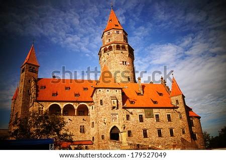 castle bouzov - stock photo