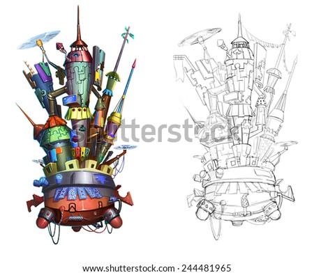 Castle - Building Design - stock photo