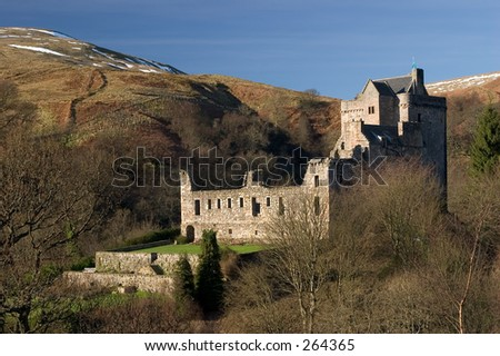 Castle Campbell, Dollar Glen, Scotland - stock photo