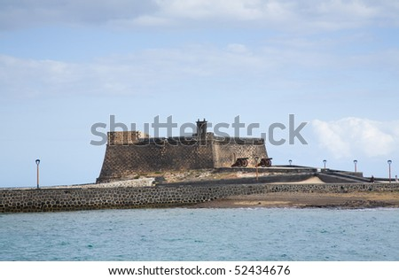castle Castillo de San Gabriel in Arrecife; Lanzarote; Canary Islands;