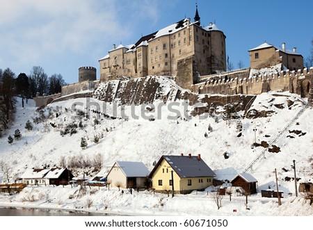 castle Cesky Sternberk, Bohemia - stock photo