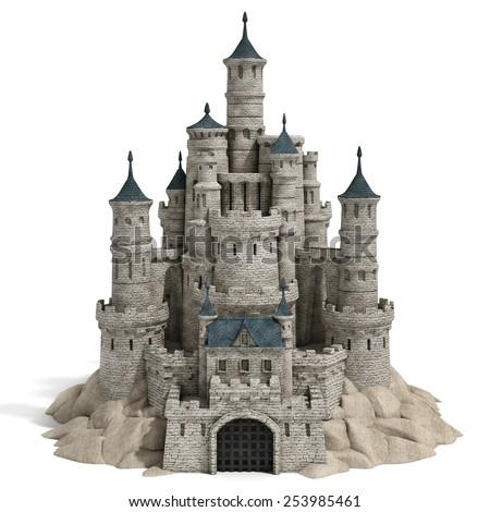 castle 3d illustration - stock photo