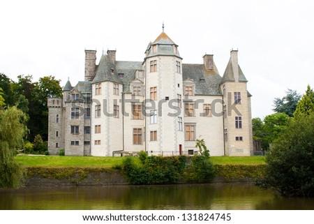 Castle des Ravalet (Chateau des Ravalet), Normandy, France - stock photo