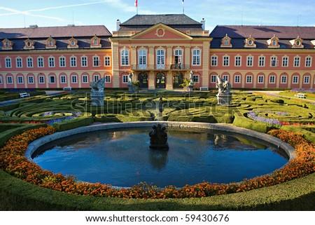castle Dobris, Bohemia - stock photo