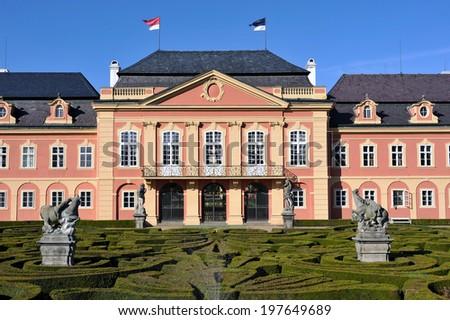 Castle Dobris in central Bohemia, Czech republic - stock photo