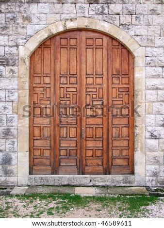 castle door - stock photo