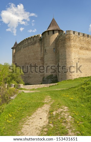 Castle fortress and road