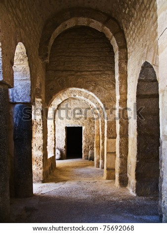Castle fortress entrance - stock photo