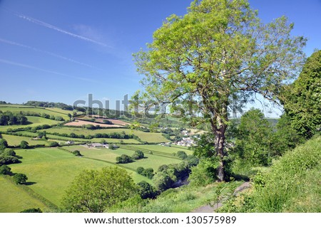 Castle Hill view, Torrington, Devon, England - stock photo