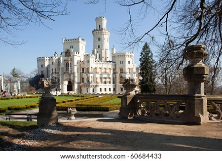 castle Hluboka, Bohemia - stock photo
