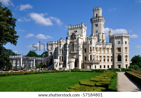 Castle Hluboka nad Vltavou in the Czech Republic - stock photo