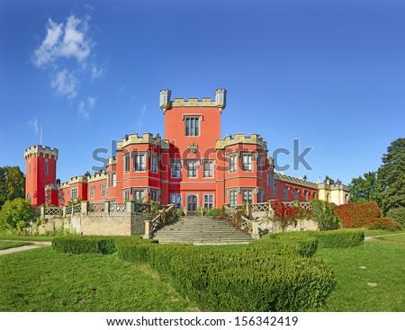 Castle Hradek u Nechanic near Hradec Kralove in Czech republic - stock photo