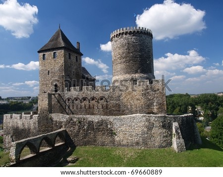 Castle in Bedzin - stock photo