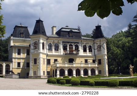 castle in Betliar - Slovakia - stock photo