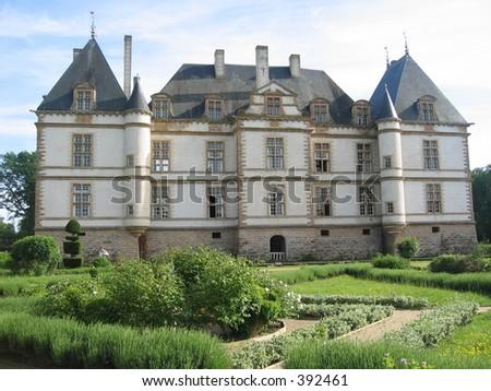 Castle in Burgundy, France. - stock photo