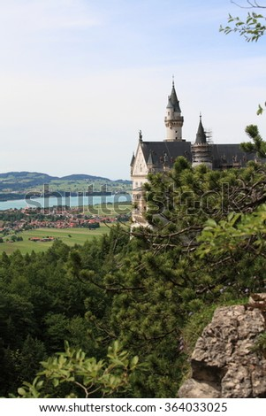 Castle in Germany in region Hohenschwangau, year 2009