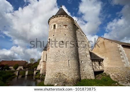 castle in Loira, France - stock photo