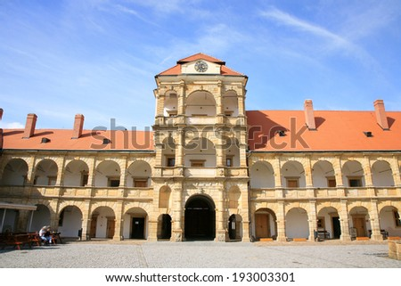 Castle in Moravska Trebova one of the most important Renaissance monuments in Central Europe, Moravia, Czech Republic - stock photo