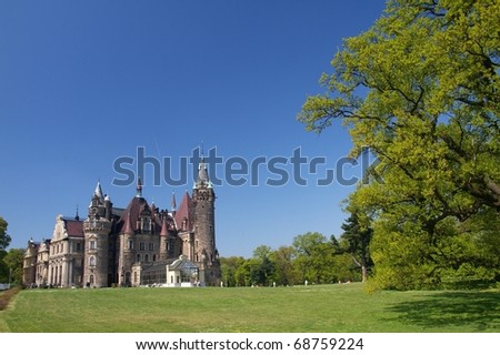 Castle in Moszna - stock photo